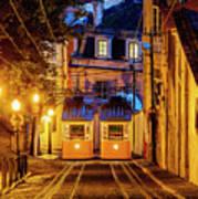 Gloria Funicular, Lisbon, Portugal Poster