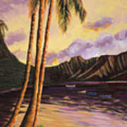 Glowing Kualoa Diptych 1 Of 2 Poster