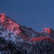 Glowing Little Cottonwood Canyon Poster