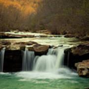 Glowing Waterfalls Poster by Iris Greenwell