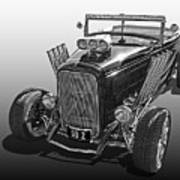 Go Hot Rod In Black And White Poster