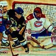Goalie  And Hockey Art Poster