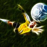Goalkeeper In Action Poster by Pamela Johnson