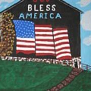 God Bless America Barn Poster