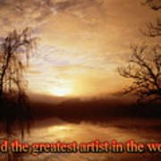 God Is The Artist Poster