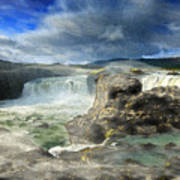 Godafoss Waterfall Iceland Poster