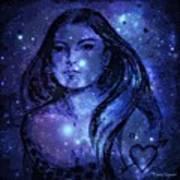 Goddess In Blue Poster
