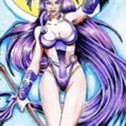 Goddess Morrigan Poster