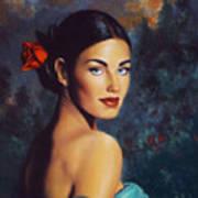 Goddess Of The Summer Rose Poster