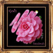 God's Paintbrush With Gold Frame Poster