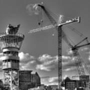 Going Up Midtown Atlanta Construction Art Poster