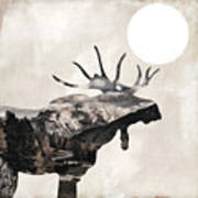 Going Wild Moose Poster