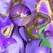 Orbs Of Light - Abstract Iris Marbles Poster