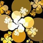 Gold Brown Spheres Poster