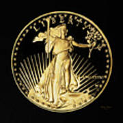 Gold Coin Front Poster