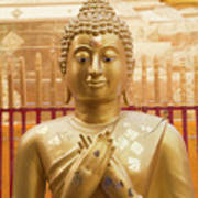Gold Leaf Buddha Poster