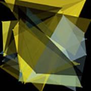 Gold Mine Polygon Pattern Poster