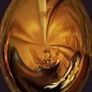Gold Satin Poster by Marsha Heiken