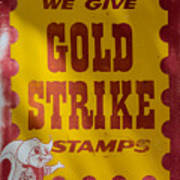Gold Strike Stamps Poster