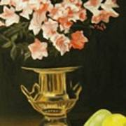 Gold Vase With Fruit Poster