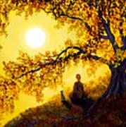 Golden Afternoon Meditation Poster