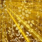 Golden And White Leaves Poster