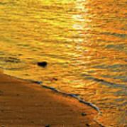 Golden Beach Sunset Poster