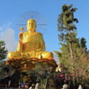 Golden Buddha In Vietnam Dalat Poster