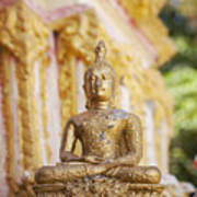 Golden Buddha Ornament Poster