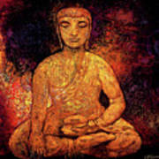Golden Buddha Poster by Shijun Munns