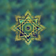 Golden Decorative Star Of Lakshmi - Ashthalakshmi  Poster