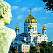 Golden Domes Moscow Poster