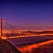 Golden Gate At Dusk Poster