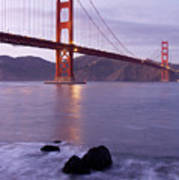 Golden Gate Bridge At Dusk Poster