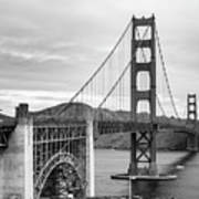 Golden Gate Bridge Black And White Poster