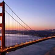 Golden Gate Bridge During Sunrise Poster