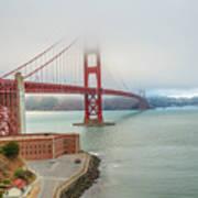 Golden Gate Bridge Fort Point Poster
