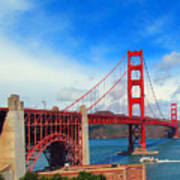 Golden Gate Bridge Four Poster