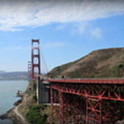Golden Gate Bridge From The Scenic Lookout Point Poster