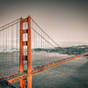 Golden Gate Bridge Selective Color Poster