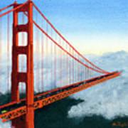 Golden Gate Bridge Sunset Poster