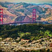 Golden Gate Bridge - Twin Peaks Poster