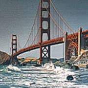 Golden Gate Surf Poster