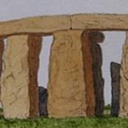 Golden Glow- Stonehenge Poster