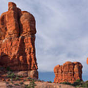 Golden Hoodoos Arches Np Poster