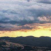 Golden Hour In Volterra Poster