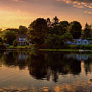 Golden Hour New England Scenery  Poster