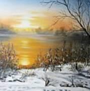 Golden Lake Sunrise  Poster