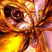 Golden Maelstrom Abstract Poster