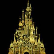 Golden Princess Fairytale Castle Poster